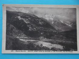 74 : SAINT GERVAIS Les BAINS Et LE FAYET : VUE De PASSY,  C.P.A., Carte En Bon état - Saint-Gervais-les-Bains