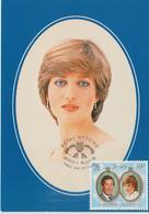 Jersey Carte Maximum 1981 Mariage Royal Lady Diana 256 - Jersey