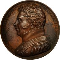 France, Médaille, Mort Du Duc De Berry, 1820, Caqué, TTB, Cuivre - France