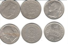 Belgique - 6 Pièces De 5 Francs - Baudouin I - 1949-1972-1950-1980-1950-1975 - 1951-1993: Baudouin I