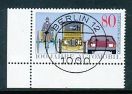 GERMANY Mi.Nr. 1268 100 Jahre Automobil - ET Berlin- Eckrand Unten Links - Used - Used Stamps