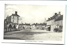 COURTOMER - La Place (vers 1925) R. CARON éditeur - Magasin Félix POTIN - Automobile - Café De La Mairie - VENTE DIRECTE - Courtomer