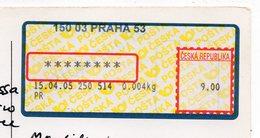 Tchéquie--Vignette Sur Carte Postale De Prague Pour Migne Auxances -86  France - Czech Republic