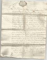 GENERALITE DE BORDEAUX , 1754 , ACTE DE MARIAGE - Manuscripten