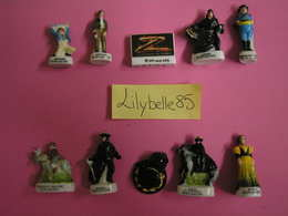 Serie Complète De 10 Fèves En Porcelaine - ZORRO 2007 ( Feve Miniature Rare ) - Personnages