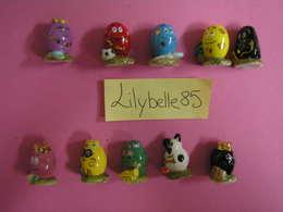 Serie Complète De 10 Fèves En Porcelaine Décor Or - BARBAOEUFS 2010 ( Feve Miniature Rare ) - Cartoons