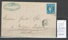 Lettre Houplines - Armentieres - Nord -1871 Yvert Bordeaux 46b - Storia Postale