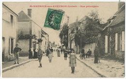 Saint Maurice Sur Aveyron Rue Principale Leger Pli Coin Inf. D. - Francia