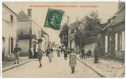 Saint Maurice Sur Aveyron Rue Principale Leger Pli Coin Inf. D. - France