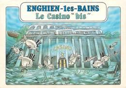 Illustrateurs - Illustrateur Bernard Veyri - Enghien Les Bains - Jeux - Casino - Poissons - Autographe - Signature - Veyri, Bernard