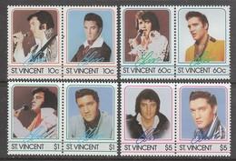 SERIE NEUVE DE ST-VINCENT - HOMMAGE A ELVIS PRESLEY N° Y&T 870 A 877 - Elvis Presley
