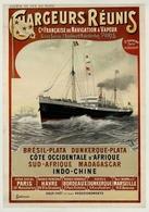 France Navigation Postcard Chargeurs Réunis Brésil-Plata Afrique Indo-Chine 1900 - Reproduction - Advertising
