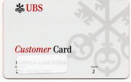 SVIZZERA-UBS-CUSTOMER CARD-EXPIRED - Geldkarten (Ablauf Min. 10 Jahre)