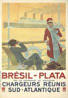 France Navigation Postcard Chargeurs Réunis Brésil-Plata 1920 - Reproduction - Advertising