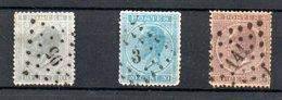 Belgique /  N 17-18-19  / Oblitérés - 1865-1866 Linksprofil