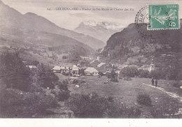 LES HOUCHES : LE VILLAGE ET LE VIADUC ET LA CHAINE DES FIZ.1921.T.B.ETAT.PETIT PRIX.COMPAREZ!!! - Les Houches