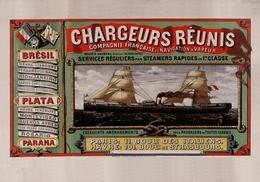 France Navigation Postcard Chargeurs Réunis Brésil Plata Parana 1887 - Reproduction - Advertising