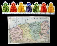 Algérie, Tunisie, Alger, Oran, Contantine, Tunis, Carte Des Département, Éditée En 1905 - Cartes Géographiques