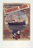 France Navigation Postcard Chargeurs Réunis Plata Brésil 1888 - Reproduction - Advertising