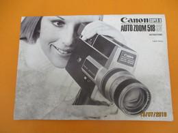 Canon Super 8/ Auto Zoom 518 SV/Manuel D'utilisation/English Edition/ Japan / 1971     PHOTN366 - Merchandising