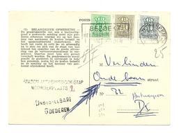 S49 50 54 ( 30 Ct + 40 Ct +80 Ct) Antwerpen 1959  Verso / Rect. Rectan. ANTWERPEN/ DOK.STAP.N°77 - Service