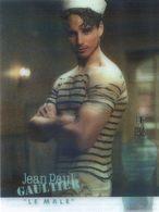 """Publicite échantillon De Parfum De Jean Paul Gaultier """" Le Male """" - Image à Systheme - Parfum Au Dos N'a Pas été Ouvert - Advertising"""