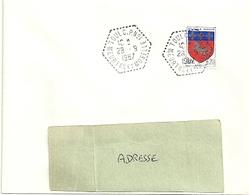 MEURTHE & MOSELLE - Dépt N° 54 = TOUL 1967 = CACHET Hexagonal Pointillé CIRCUIT POSTAL CP N° 1 - Handstempel