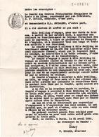 Contrat De Travail Entre Oeuvres Protestantes Françaises De Syrie & Du Liban Et Professeur College De Beyrouth, 1933. - Documenti Storici