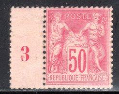 N° 98 (Sage Millésimé 1893) Neuf**:  COTE= + 275 Euros !!! - 1876-1898 Sage (Type II)