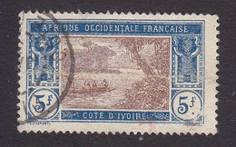 Ivory Coast, Scott #77, Used, River Scene, Issued 1913 - Côte-d'Ivoire (1892-1944)