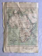 RARE ANTIQUE AFRICA ROUND AFRICA BY D.O.A. LINE ROUTE MAP BY GEORGE PHILIP & SON - LONDON GEOGRAPHICAL INSTITUTE - Mapas