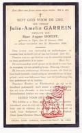 DP Julie A. Garrein ° Ieper 1863 † 1934 X A. Hoedt - Images Religieuses