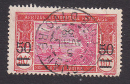 Ivory Coast, Scott #80, Used, River Scene Surcharged, Issued 1922 - Côte-d'Ivoire (1892-1944)