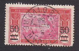 Ivory Coast, Scott #80, Used, River Scene Surcharged, Issued 1922 - Ivory Coast (1892-1944)