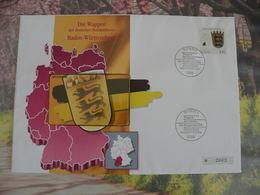 Télécartes Neuf FDC > Régionales Et Armoirie - Baden Württeemberg - 9.1.1992 FDC 1er Jour - Germany