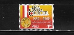 Peru 2000 Fight Against Cancer MNH - Peru