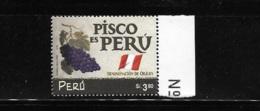 Peru 2000 Pisco Wine MNH - Peru