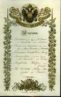 AUTRICHE AVANT 1918. PROGRAMME DE CONCERT DU 11è REGIMENT D'INFANTERIE. KRONPRINZ VON SACHSEN. - Programma's