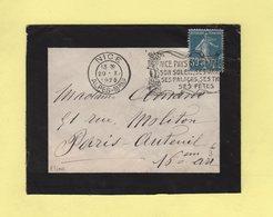 Flier - Nice - Pays D Enchantement Son Soleil Ses Jardins Ses Palaces Ses Theatres Ses Fetes - 29-10-1925 - Postmark Collection (Covers)