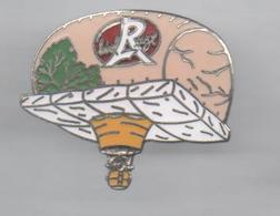 PINS PIN'S MONTGOLFIERE SPORT PARACHUTISME LABEL ROUGE EGF JAMBON - Paracadutismo