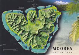 POLYNESIE / ILE DE MOOREA /  CARTE GEOGRAPHIQUE - Cartes Géographiques