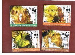 NUOVA ZELANDA (NEW ZEALAND) - SG 2811.2814   -  2005  BIRDS: WWF KAKAPO: COMPLET SET OF 4 -  USED° - New Zealand