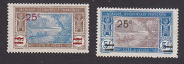 Ivory Coast, Scott #84-85, Mint No Gum, River Scene Surcharged, Issued 1924 - Ivory Coast (1892-1944)