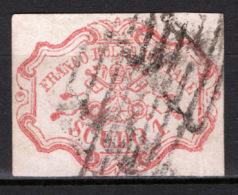 Stato Pontificio 1852 1 Scudo Rosa Carminio Sass.11 O/Usaed  VF/F - Cert A.Diena - Stato Pontificio