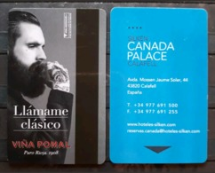 ESPAÑA TARJETA LLAVE - KEY HOTEL CANADA PALACE. VIÑA POMAR RIOJA, - Cartas De Hotels