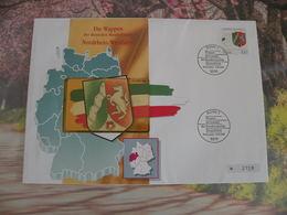 Télécartes Neuf FDC > Régionales Et Armoiries - Nordrhein Westfalen - 12.8.1993 - FDC 1er Jour - Germany