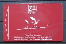 ESPAÑA TARJETA LLAVE - KEY HOTEL ZT PEÑÍSCOLA, - Cartas De Hotels