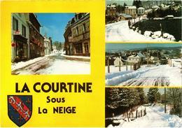 LA COURTINE (23) Sous La Neige - Diverses Vues - Belle Carte - La Courtine