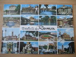 Italien/Italy- Rom Mit Mehreren Ansichten Von Baudenkmälern - Panoramic Views