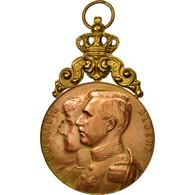 Belgique, Médaille, Elisabeth Et Albert, Evergem, 1927, TTB+, Cuivre - Autres
